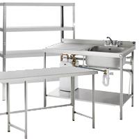 Tables, Sinks & Shelving